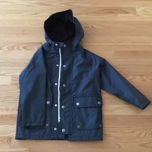 Gap Boys Navy Rain Jacket Sz S 6-7
